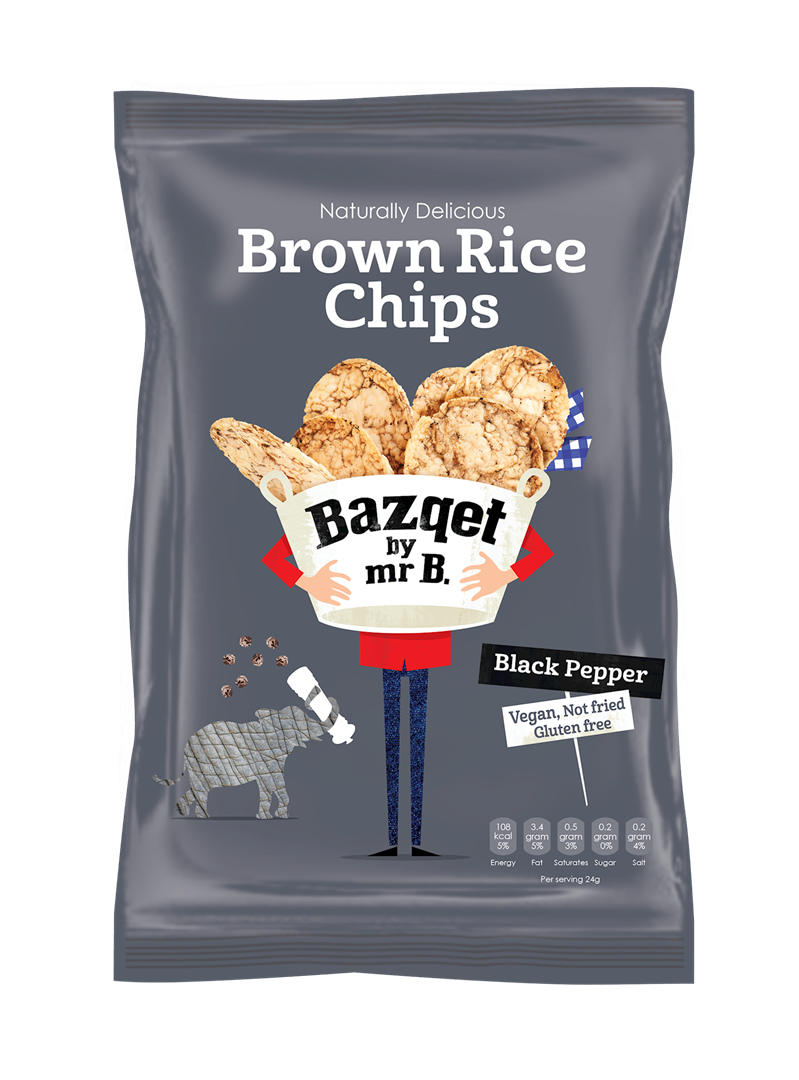 Productafbeelding Bazqet Rice Chips Pepper 60g